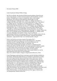 Newsletter Februar 2006 - Michael Müller Verlag