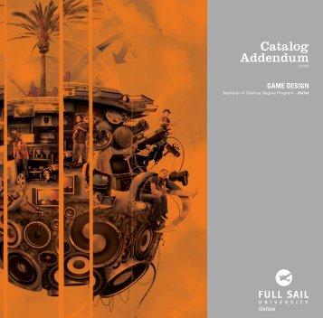 Catalog Addendum - Full Sail University