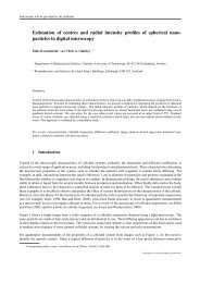 Estimation of centres and radial intensity profiles of spherical nano ...