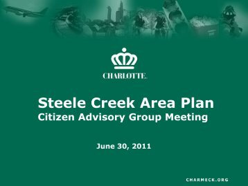 Steele Creek Area Plan - Charlotte-Mecklenburg County