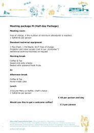 to find the meeting packages... - 25hours Hotels