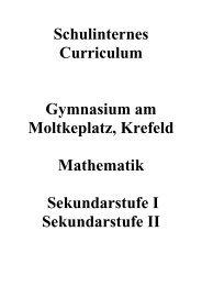 Schulinternes Curriculum - Gymnasium am Moltkeplatz