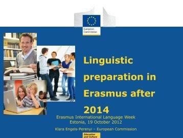 Linguistic preparation in Erasmus after 2014 - Archimedes