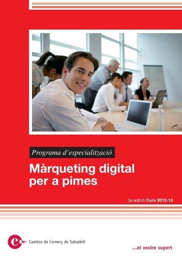 Màrqueting digital per a pimes - Cambra de Comerç de Sabadell