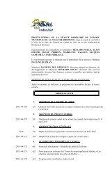 PROCÈS-VERBAL DE LA SÉANCE ORDINAIRE ... - Ville de Bromont
