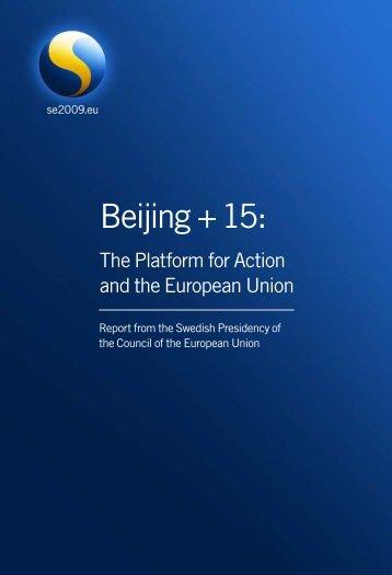 Beijing + 15: - European Commission - Europa