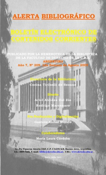 Año 7 - Facultad de Derecho - Universidad de Buenos Aires