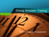 Driving Simulator Training - Transportation