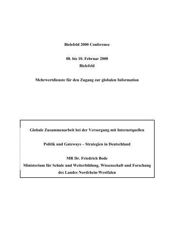 Vortrag als PDF-Dokument - 10th International Bielefeld Conference