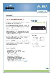 AL DIA - Nuevos grabadores CENTER SHD (H.264) - CCTV Center
