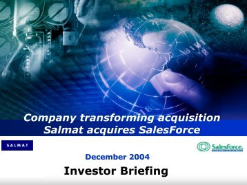 SalesForce acquisition Presentation - Salmat
