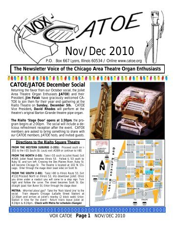Nov/Dec 2010 - catoe organ page