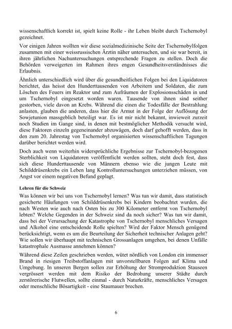 Unfal von Tschernobil - Dr. Hussein Saado Portrait des GOSKs in ...