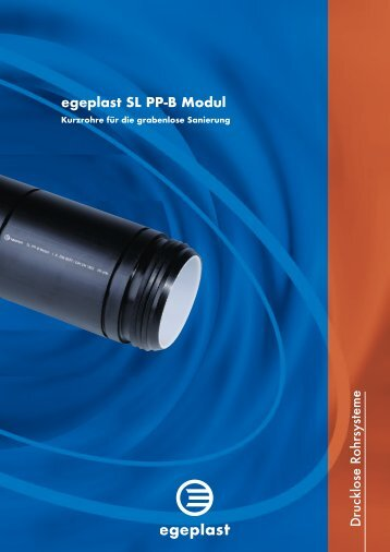 egeplast SL PP-B Modul Drucklose R ohrsysteme