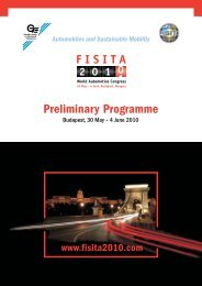 Preliminary Programme - FISITA 2010 World Automotive Congress