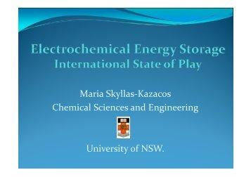 Electrochemical Energy
