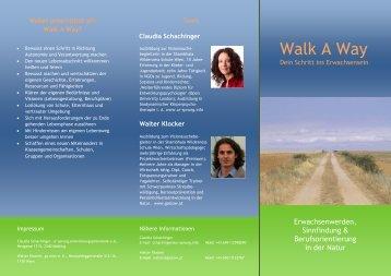 Walk A Way - Claudia Schachinger