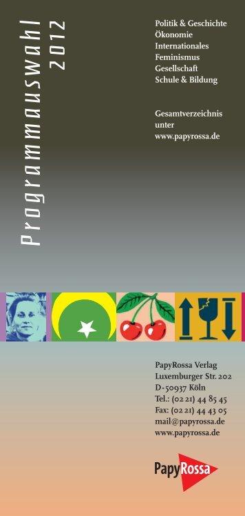 Programmauswahl 2012