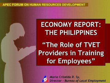 The Role of TVET Providers