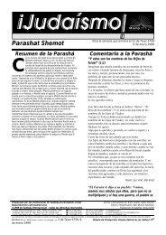 Parashat Shemot - Ohr Somayach