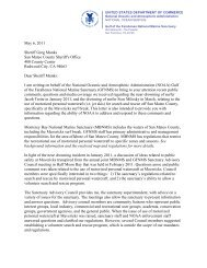 MPWC Letter - Gulf of the Farallones National Marine Sanctuary ...
