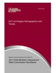 ACT and Region Demographics and Trends Final - Chief Minister ...