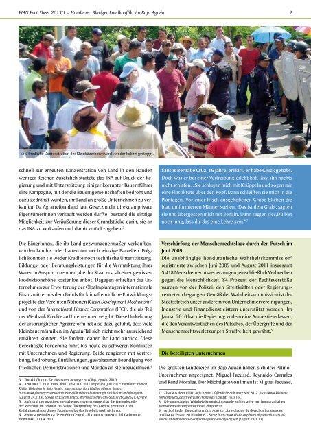Honduras: Blutiger Landkonflikt im Bajo Aguán - Kleinbauernrechte ...