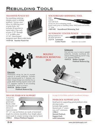 rebuilding tools view catalog - Pianotek Supply Company