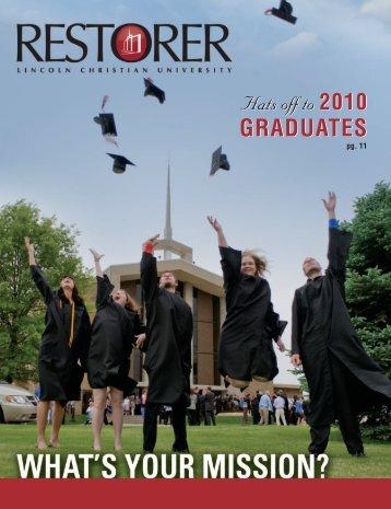 Summer 2010 - Lincoln Christian University