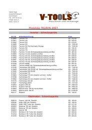 Preisliste Telwin 2007 excel - v-tools