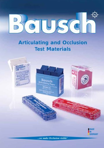 Articulating and Occlusion Test Materials - Janouch Dental