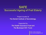 Successful Ageing of Frail Elderly - Able - Annette Johannesen