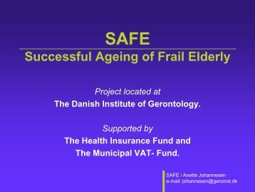 Successful Ageing of Frail Elderly - Able - Annette Johannesen