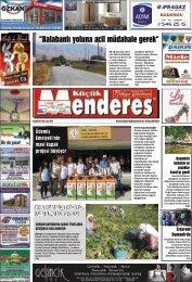 23 Eylül Tarihli Küçükmenderes Gazetesi