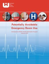 Potentially Avoidable Emergency Room Use - Washington State ...