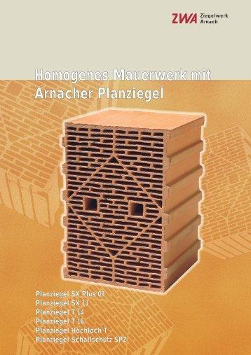 Planziegel SX Plus 09 - Ziegelwerk Arnach GmbH & Co. KG