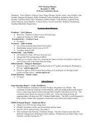 PTO Meeting Minutes - Ottawa Hills School District