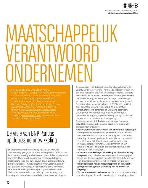 BNP JAARVERSLAG 2010 - BNP Paribas