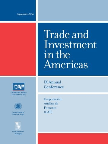 Trade and Investment in the Americas - Inter-American Dialogue