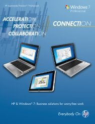 Solution brief - HP + Windows 7