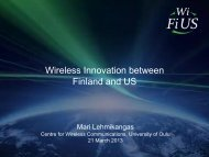 Wireless Innovation between Finland and US - Tekes