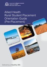 Allied Health Rural Student Placement Orientation Guide (Pre ...