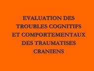 EVALUATION DES TROUBLES COGNITIFS ET ... - ampra