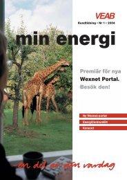 Min Energi 2-03 - VEAB. Växjö energi AB.