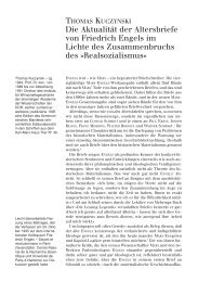 Die Aktualität der Altersbriefe von Friedrich Engels im Lichte des ...