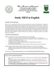 Study MEO in English - SGGW