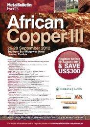 26-28 September 2012 Southern Sun Ridgeway, Lusaka, Zambia ...