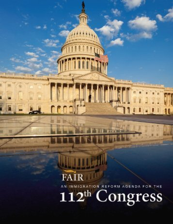 An Immigration Agenda for the 112th Congress - Federation for ...