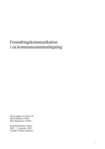 Forandringskommunikation i en ... - Hans Mogensen