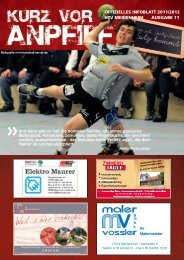 Ausgabe 11 2011/2012 - HTV Meissenheim